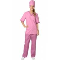 """Костюм """"СОФИЯ"""" женский: куртка, брюки, колпак тёмно-розовый со сливовым"""