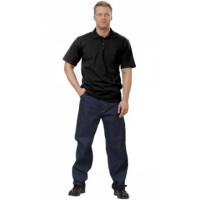Рубашка-поло короткие рукава чёрная, пл. 205 г/кв.м.