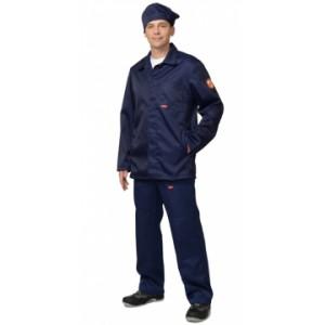Костюм КЩС летний мужской: куртка, брюки, берет синий