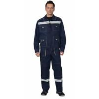 "Костюм ""ТРОЯ"": куртка, полукомбинезон синий с СОП (100% хб, 320 г/м2)"