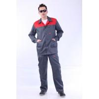 """Костюм """"СТАНДАРТ"""": куртка, брюки серый с красным и СОП"""
