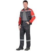 """Костюм """"ЛЕГИОНЕР"""": лето куртка, брюки т.серый с красным и СОП 50 мм."""