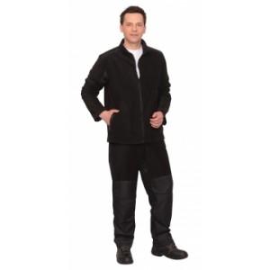 """Костюм флисовый: """"FITSYSTEM"""", куртка, брюки черный с накладками"""