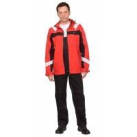 """Костюм """"Сидней"""" куртка, п/к, красный с черным тк.Rodos (245 гр/кв.м)"""