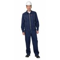 """Костюм """"Техас"""" : куртка, п/к, цв. синий тк.Rodos (245 гр/кв.м)"""