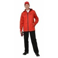"""Костюм """"Мельбурн"""" : куртка,брюки красный с черным кантом тк.Rodos (245 гр/кв.м)"""