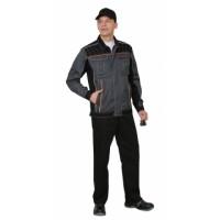 """Костюм """"Престиж"""" : куртка,п/к, цв. серый с оранжевым кантом"""