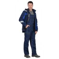 """Костюм """"Сидней"""" летний :куртка, п/к синий с васильковым тк.Rodos (245 гр/кв.м)"""
