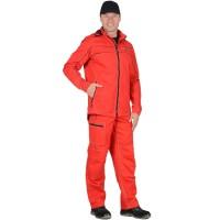 """Костюм """"Мельбурн"""" : куртка,п/к красный тк.Rodos (245 гр/кв.м)"""