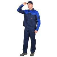 """Костюм """"АВТОМАСТЕР"""": куртка, п/комб. синий с васильковым тк.CROWN-230"""