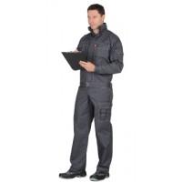 """Костюм """"ПЛУТОН"""": куртка, брюки тёмно-серый со светло-серой отстрочкой"""