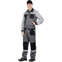 """Костюм """"Лигор"""" куртка, брюки т.серый со св.серым и черным СОП 50мм"""