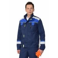 """Куртка """"БОСТОН"""" темно-синий с васильковой и чер. отд."""