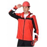 """Куртка """"Сидней"""" красная с черным и СОП тк.Rodos (245 гр/кв.м)"""