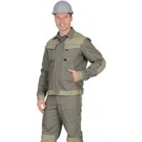 """Куртка """"ВЕСТ-ВОРК"""" короткая, т.оливковый со св.оливковым"""