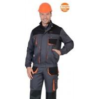 """Куртка """"МАНХЕТТЕН"""" короткая темно-серая с оранжевым и черным"""