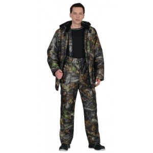 "Костюм ""АЗИМУТ"" зимний: куртка дл., брюки КМФ ""Темный лес"""