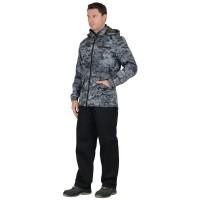 "Куртка ""Вектор"" удл.(тк.Дюспо+флис) серый Милитари"