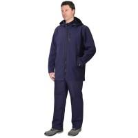 """Куртка """"Азов"""" удлиненная синяя с капюшоном, софтшелл"""
