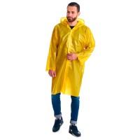 """Плащ-дождевик """"Люкс"""" на липучке ПВД 80 мкр. желтый, пропаянные швы (х50)"""