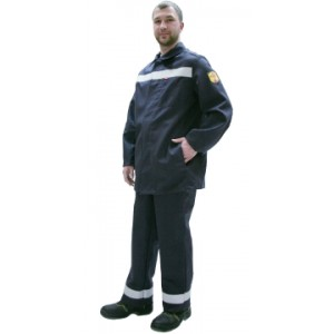"Костюм сварщика ""Геркулес"" летний: куртка, брюки темно-синий и СОП"