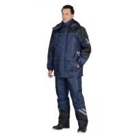 """Костюм """"ФОТОН"""" зимний: куртка дл., брюки тёмно-синий с черным и СОП-25 мм."""