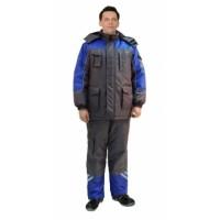 "Костюм ""ФОТОН"" зимний: куртка дл., брюки тёмно-серый с васильковым и СОП-25 мм."