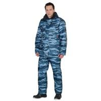 """Костюм """"Безопасность"""" зимний: куртка, п/комб. КМФ серый вихрь"""