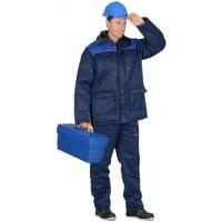 """Костюм """"РОСТ-Гретта"""" куртка дл., брюки, синяя с васильковым"""