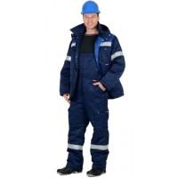 """Костюм """"ТИТАН"""" зимний: куртка дл., п/комб. т.синий с васильковым и СОП-50мм."""