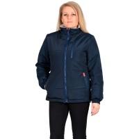 """Куртка """"SNOW"""" синяя с бежевым на подкладке флис"""