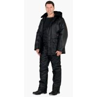 "Костюм ""Безопасность"" зимний: куртка дл., п/комб. чёрный"
