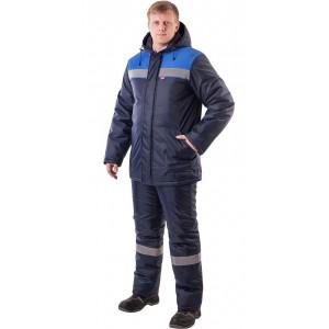 "Костюм ""Рост-Норд"" куртка брюки, темно-синий с васильковым. Тк.Оксфорд"
