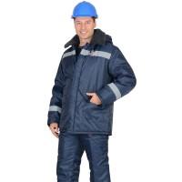 "Куртка ""СЕВЕР-4"" дл., зимняя, т. синяя, тк.Оксфорд"