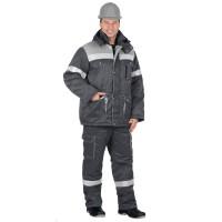 "Костюм ""ТИТАН"" зимний: куртка дл., п/комб. т.серым с серым и СОП-50мм."
