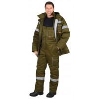 "Костюм ""ТИТАН"" зимний: куртка дл., п/комб. хаки и СОП-50мм."