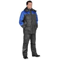 "Костюм ""ФОТОН"" зимний: куртка дл., брюки т-серый с васильковым и СОП-25 мм."