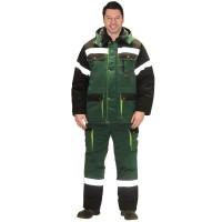 """Костюм """"ТИТАН"""" зим: куртка дл., п/к. зеленый с черным и СОП-50мм."""
