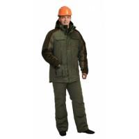 """Костюм """"Кобальт"""": куртка, брюки, оливковый с темно-коричневым"""