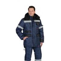 """Куртка """"БЕРКУТ"""" дл., синяя с черным тк.Оксфорд"""