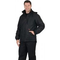 "Куртка ""ПРАГА-Люкс"" мужская, с капюшоном, черная"