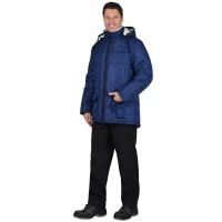 """Куртка """"КАЙМАН"""" зимняя мужская, синяя, подкладка искусственный мех"""