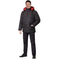 """Куртка """"Кайман"""" черная, подкладка флис"""