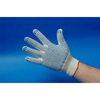 Перчатки х/б с ПВХ-покрытием «Точка» белые, 10-й класс, 4 нити