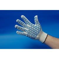 Перчатки х/б с ПВХ-покрытием «Волна» белые, 10-й класс, 5 нитей