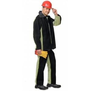 Костюм сварщика: куртка, брюки брезентовый со спилком тип Б