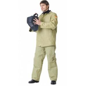 Костюм сварщика: куртка, брюки брезентовый с налокотниками и наколенниками