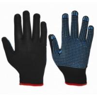 """Перчатки """"НейпДот-Ч"""" (нейлон, ПВХ-точка, цвет черный)"""